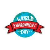 World environment day vector label Stock Photos