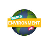 World environment day vector label Stock Images