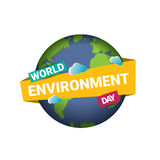 World environment day vector label Stock Photo