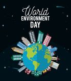World environment day. Vector illustration graphic design royalty free illustration