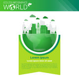 World Environmental Protection Green Energy Ecology Infographics Banner With Copy Space Stock Photography