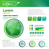 World Environmental Protection Green Energy Ecology Infographics Banner With Copy Space. Vector Illustration Stock Photography