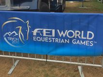 2018 world Equestrian games banner royalty free stock image