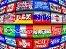 World Equity Indices Stock Image
