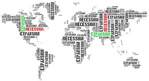 World expansion and recession. Royalty Free Stock Photography