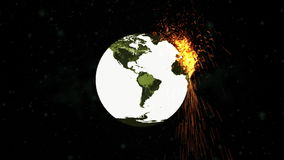 World Exploding Bomb Royalty Free Stock Image