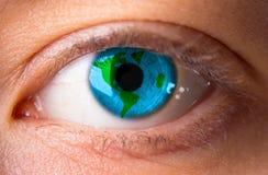 World in eye Stock Image