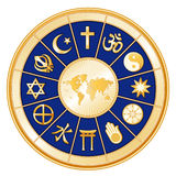 A World of Faith, 12 World Religions Stock Image