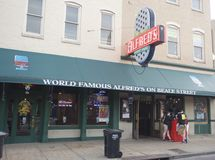 The World Famous Alfred's, Memphis Tennessee. Stock Photography