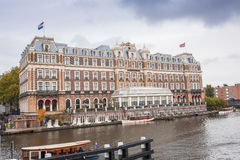 The world famous Amstel Hotel in Amsterdam Stock Image