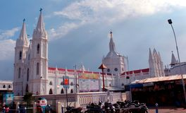 The world famous basilica of Our Lady of Good Health in velankanni. stock photography