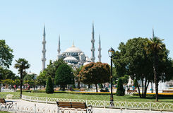 The world-famous Blue Mosque in Istanbul is also called Sultanahmet. Turkey. Royalty Free Stock Images