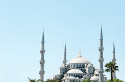 The world-famous Blue Mosque in Istanbul is also called Sultanahmet. Turkey. Royalty Free Stock Photography
