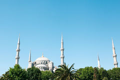 The world-famous Blue Mosque in Istanbul is also called Sultanahmet. Turkey. Stock Photo