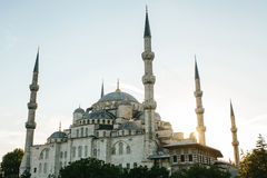 The world-famous Blue Mosque in Istanbul is also called Sultanahmet. Turkey. Royalty Free Stock Photos