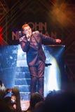World Famous British Pop-Singer John Newman Performing at A-Fest Music Festival. Minsk, Belarus-August 12, 2017: World Famous British Pop-Singer John Newman Stock Photo