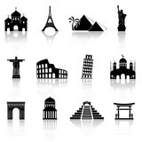 World famous buildings abstract silhouettes. Vector illustration vector illustration