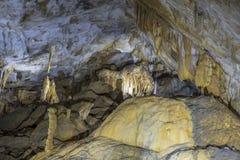 Growing stalactites and stalagmites royalty free stock photo