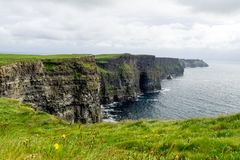 World famous Cliffs of Moher in County Clare, Ireland stock photography