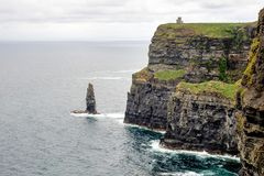 World famous Cliffs of Moher in County Clare, Ireland stock photos