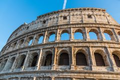 World famous Coliseum under a blue sky. Rome, Italy Royalty Free Stock Photography