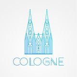 World famous Cologne cathedral. Greatest Landmarks of europe.. Linear vector icon for Koln Germany. Stock Photos