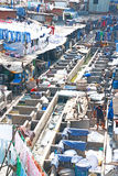 World famous Dhobi Ghats of Mumbai india Royalty Free Stock Photo