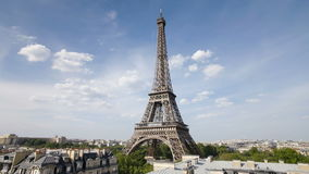 The world famous eiffel tower in natural light paris france europe t lapse stock video footage
