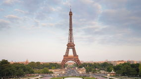 The world famous eiffel tower in natural light paris france europe t lapse stock video