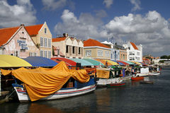 World Famous Floating Market in Curacao Stock Photography