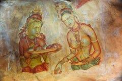 World famous frescos of ladies Stock Photography