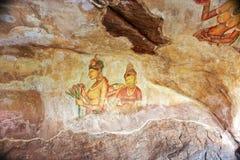 World famous frescos of ladies Stock Photos