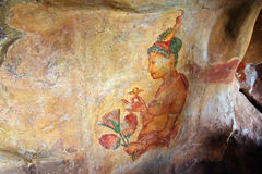 World famous frescos of ladies Royalty Free Stock Photography