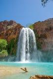 World Famous Havasu Falls. Shot taken from the bottom of the falls Royalty Free Stock Photos