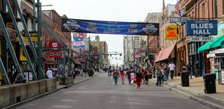 World Famous Historic Beale Street Royalty Free Stock Images