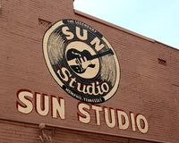 The World Famous and Historical Sun Studio, Memphis Tennessee Stock Photos