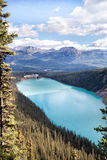 World famous Lake Louise. Classic view of world famous Lake Louise, Canada Royalty Free Stock Photos