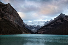 World famous Lake Louise. Classic view of world famous Lake Louise, Canada Stock Photos