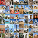 World famous landmark collage Stock Images