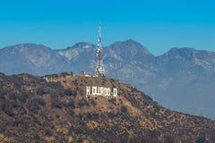 The world famous landmark Hollywood Sign Stock Photos