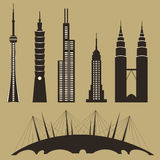World famous landmarks vector illustration