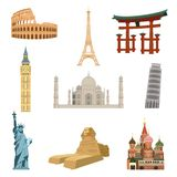 World famous landmarks Royalty Free Stock Images
