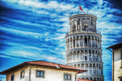 World famous leaning tower in Pisa Royalty Free Stock Photo