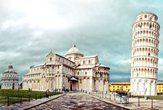 World famous leaning tower in Pisa, Italy Royalty Free Stock Photo
