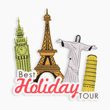World famous monument for best holiday tour. Royalty Free Stock Photography