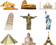 World famous monuments Stock Images