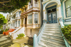 World famous Painted Ladies in Alamo square Royalty Free Stock Photos