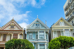 World famous painted ladies in San Francisco Royalty Free Stock Photo