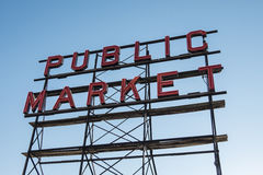 World famous Pike place market in Seattle Royalty Free Stock Image