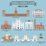 World Famous Place. Italy. Milan Stock Photography